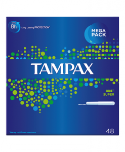 Tampax Cardboard Applicator Super Tampons x48